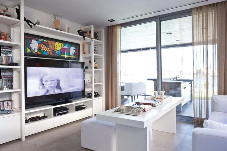 Cocina y sala de estar todo en uno mesas colores y led - Televisores para cocina ...