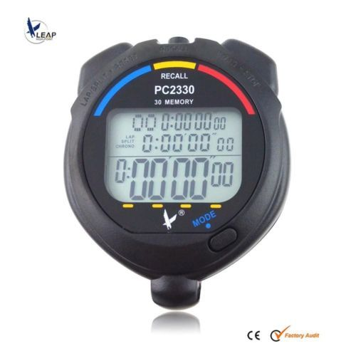 NEW waterproof 3 Row Display 30 split recallable Swimming stopwatch Timer Pacer