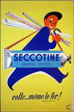 La colle Seccotine venait à bout de tous les petits accidents matériels .