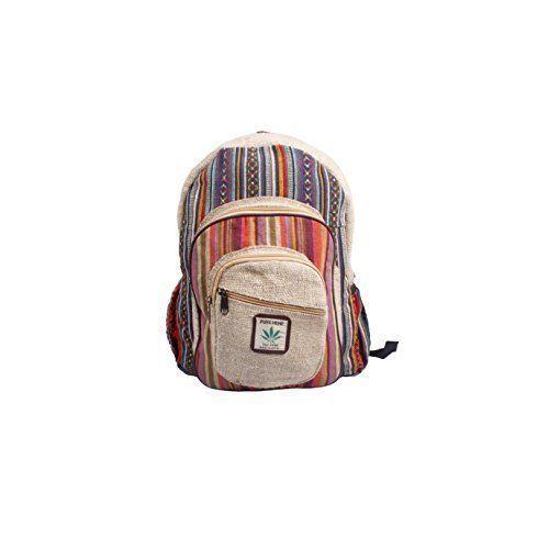 Hemp Backpack Handmade Large Multi Pocket All Natural Laptop Books Bag Gift NEW #BackpackHandmade