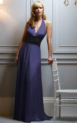 Empire Chiffon Backless Floor-length Sleeveless Bridesmaid Dresses