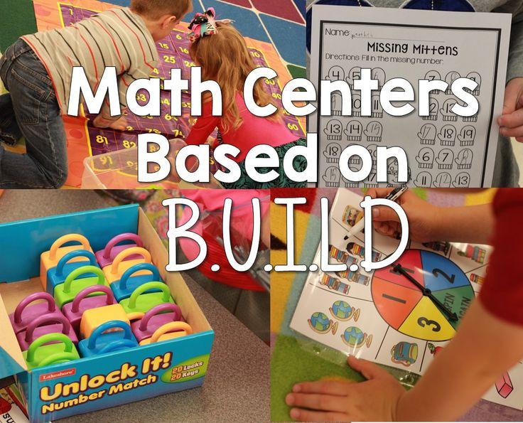 math centers based on B.U.I.L.D. (Kickin' it in Kindergarten)