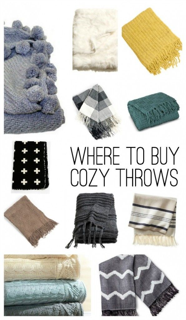 Where To Buy Cozy Throw Blankets for FALL