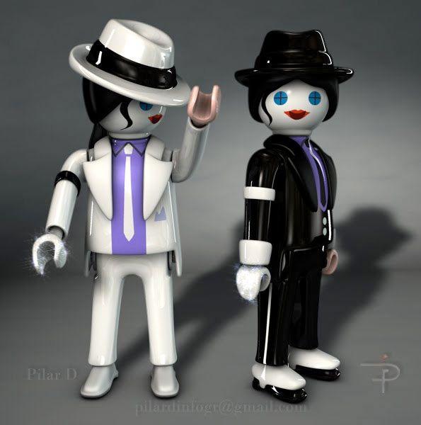 Playmobil Michael Jackson.                                                                                                                                                                                 Más