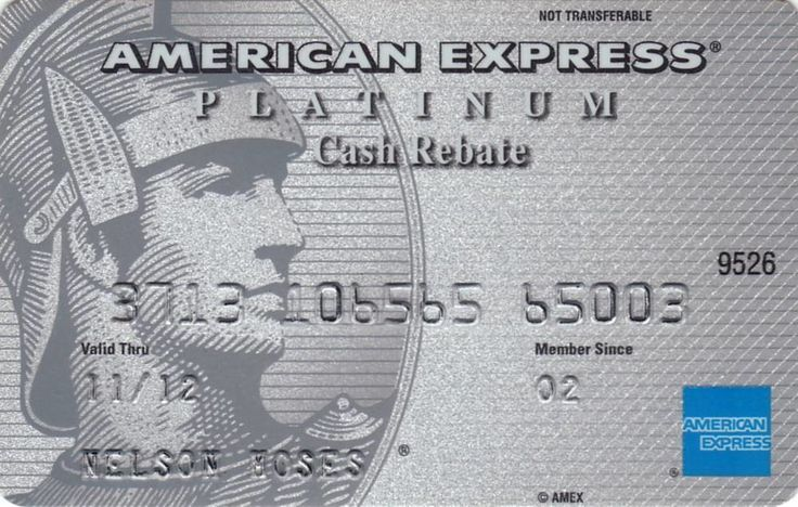 American Express PLATINUM (Cash Rebate) (American Express, USA) Col:US-AE-0008
