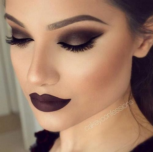 Black dress hair and makeup images