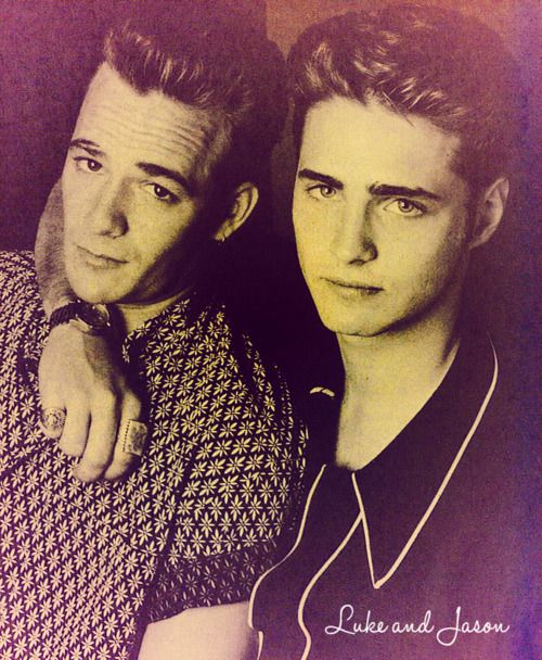 Luke Perry & Jason Priestley think my first crushes as a young girl haha