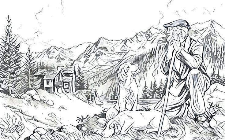 montagnes coloriage g coloriage montagnes imprimer ...