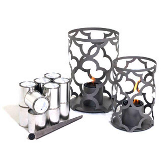 TF Essentials Mediterranean Gray Outdoor Lantern Set
