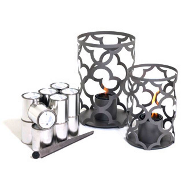TF Essentials Mediterranean Gray Outdoor Lantern Set