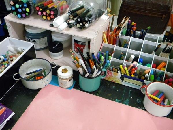 art studio organization - mystele