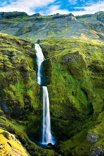 allthingseurope: Rjómafoss, Iceland (by Óli.)
