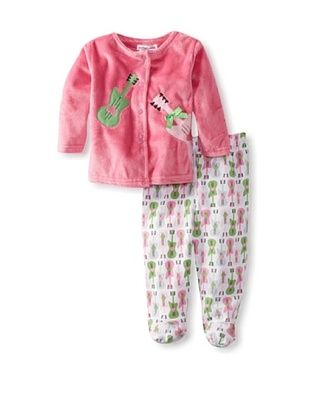 57% OFF Rumble Tumble Baby Plush Jacket Set (Hot Pink)