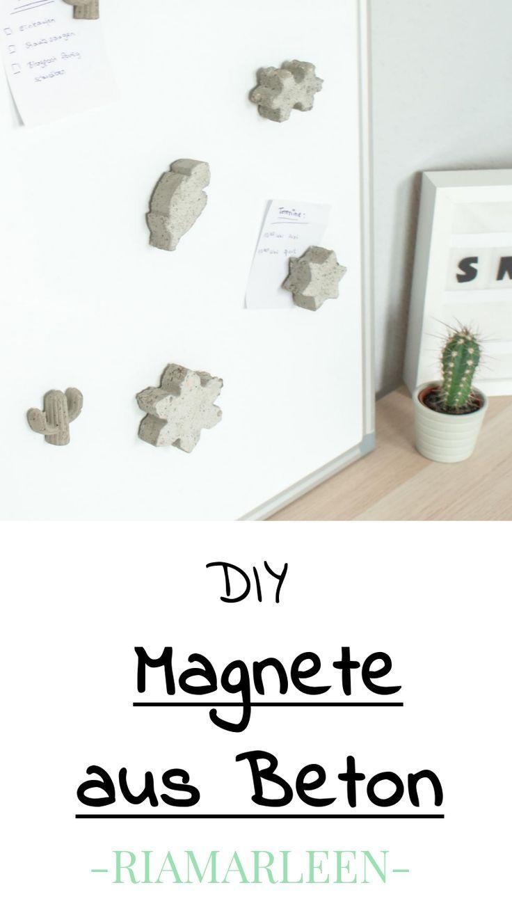 Diy Idee Individuelle Magnete Aus Beton Basteln Basteln Mit