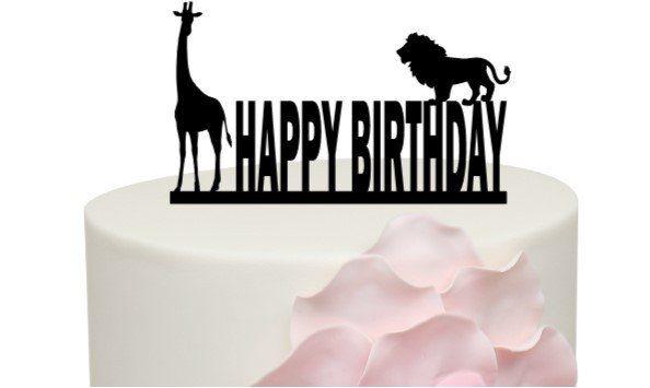 Jungle Birthday Cake Topper