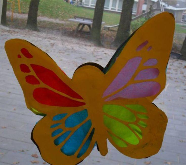 """Sjabloon lampion """"vlinder"""""""