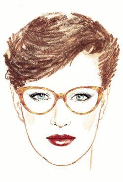 visage-triangulaire-lunette