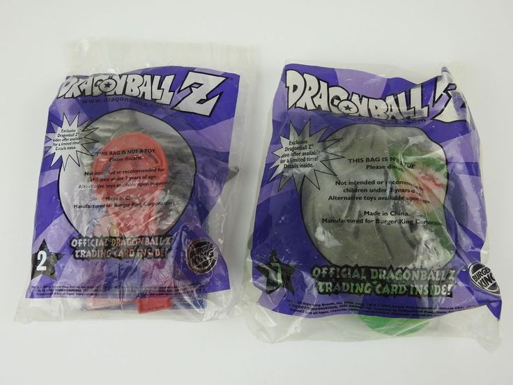 NEW Sealed Dragon Ball Z 2000 Burger King Promo Lot of 2 Piccolo #2 and #7 (D2) #BURGERKING