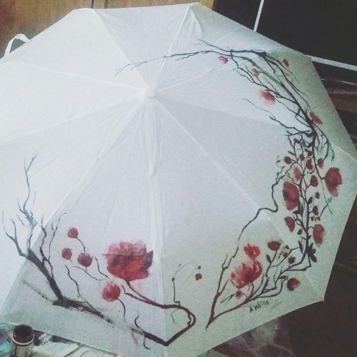 Handpainted umbrella. My new custom:) hope you like it