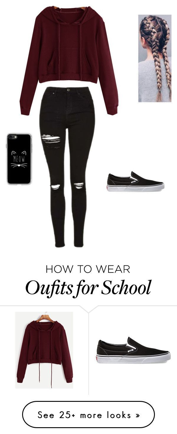 """""""School"""" by shernandez018 on Polyvore featuring Vans and Casetify"""