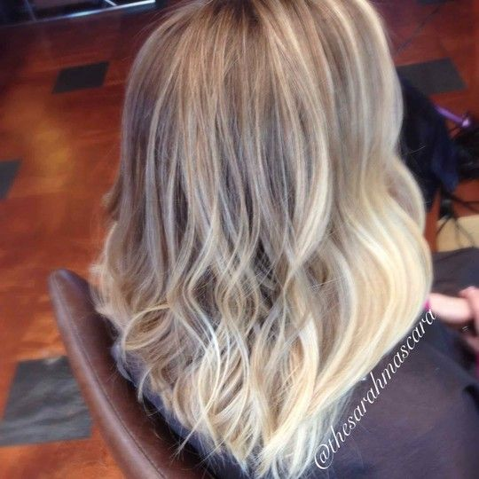 Natural blonde ombre sombre long bob wavy hair hair for Ombre mittellang
