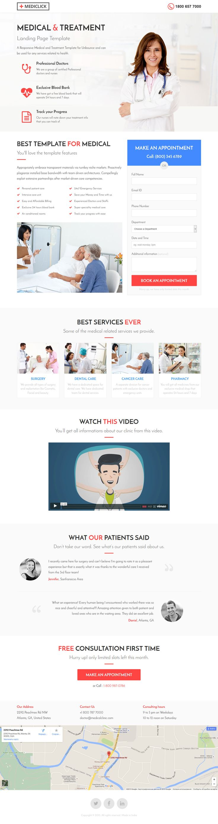 Medical, Spa, Yoga & Fitness Landing Page Template #website Download: http://themeforest.net/item/medical-spa-yoga-fitness-landing-page-template/13386341?ref=ksioks