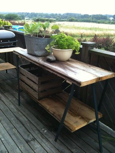 DIY Ikea LERBERG desk legs