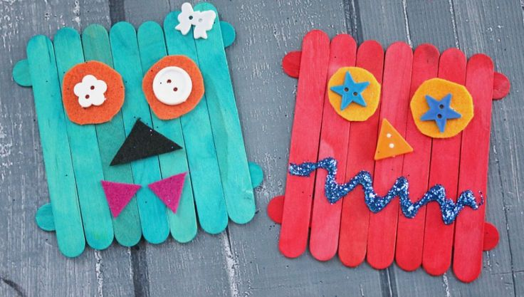 Craft Stick Monsters – Kid Craft