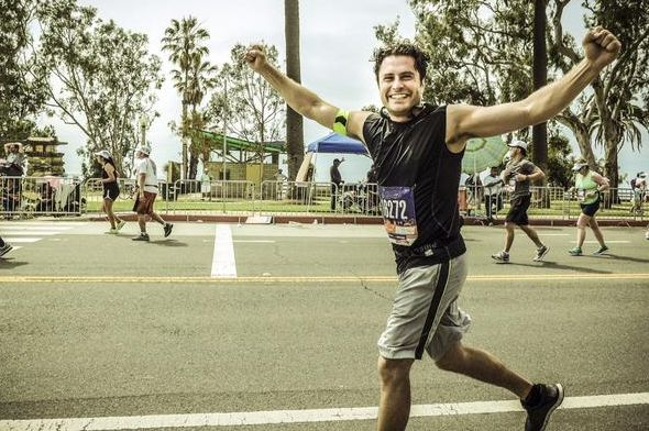 Kevin Ryan, star of the TV series Copper and Crossbones, completed the 2015 LA Marathon