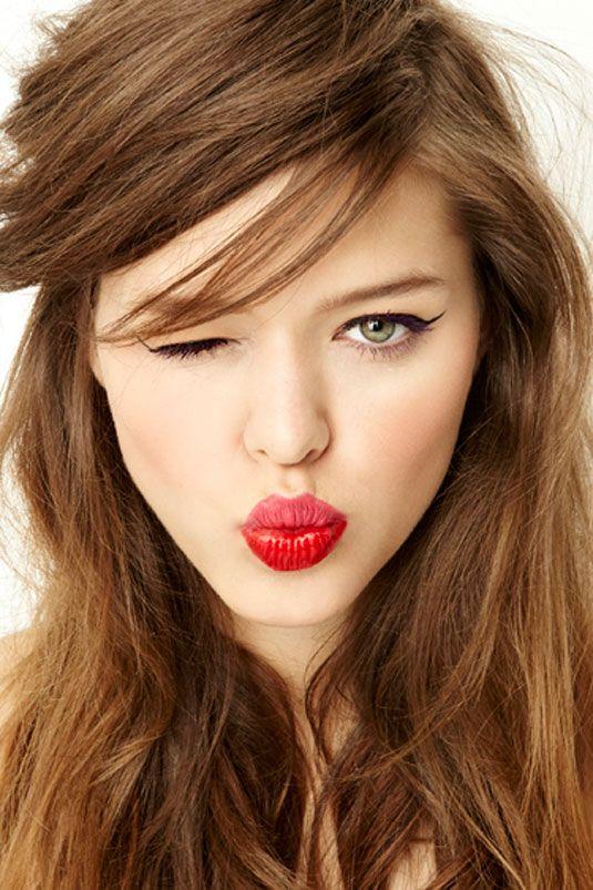 Two Tone Lips - Multi-tonal Lip Colors - Cosmopolitan: Beauty Tips, Cat Eye, Style, Makeup, Two Tone, Hair Color, Kissable Lips