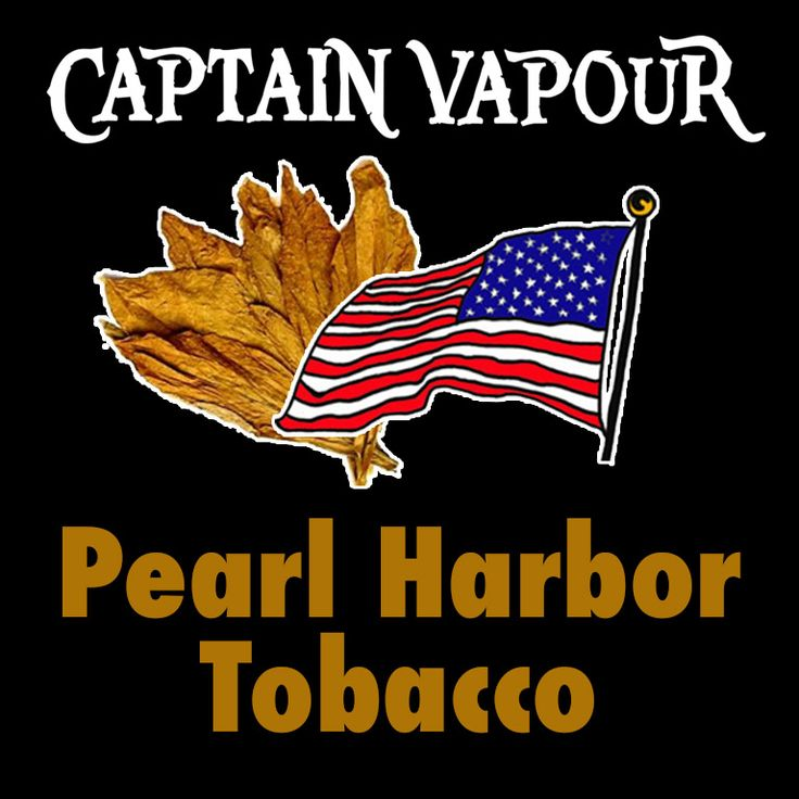 American style true smoky tobacco flavour E-Liquid. A great transition from cigarette smoking. With whiskey, cocoa, cigar & caramel. Pearl Harbor Tobacco E-Liquid - Captain Vapour