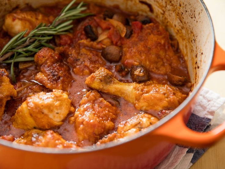 An earthy, hearty version of the classic Italian dish, this recipe stars juicy, tender pieces of chicken leg, braised in white wine with mushrooms, onion, and tomato. It tastes like it spent hours in the oven, even though it's done in about an hour.