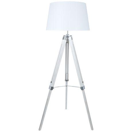 Robust Tripod Floor Lamp 147cm  White