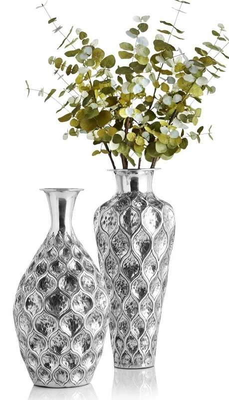These Embossed Vases make brilliant accents
