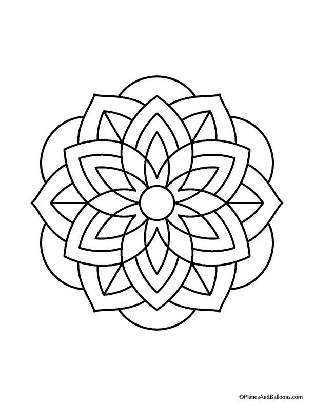 Easy Mandala Coloring Pages That You Ll Actually Want To Color
