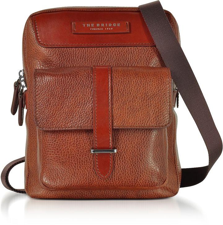 The Bridge Brown Leather Men's Crossbody Bag