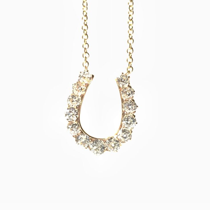A personal favorite from my Etsy shop https://www.etsy.com/listing/275315070/vintage-diamond-necklace-horseshoe-old