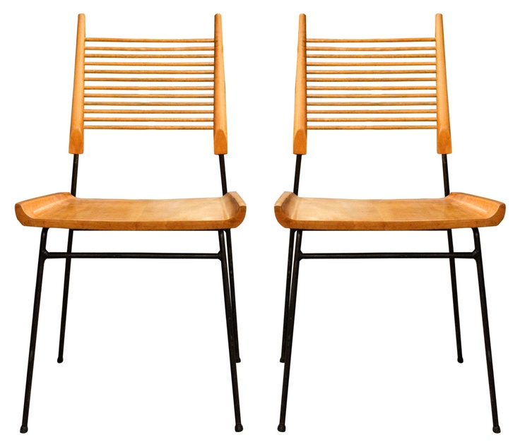 """And of course Paul McCobb """"Shovel"""" chairs."""