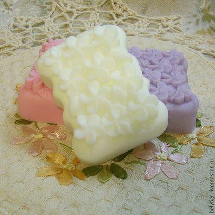 """Мыло сувенирное """"Фиалка"""" - мыло ручной работы,мыло в подарок,мыло сувенирное"""