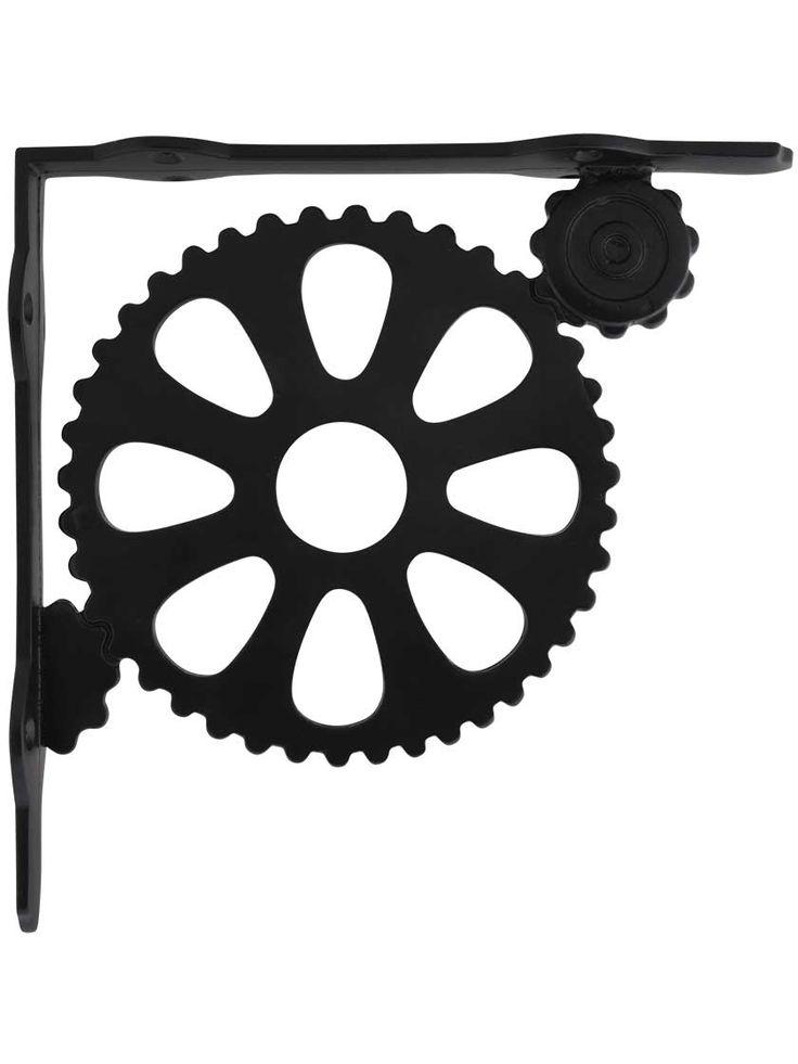 "Industrial Style Cast-Iron Shelf Bracket - 8 3/4"" x 8 3/4""   House of Antique Hardware"