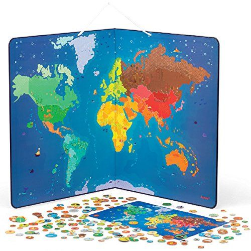 Mejores 129 imgenes de kids gifts en pinterest ideas de regalo amazon janod animal magnetic world map toys games gumiabroncs Gallery
