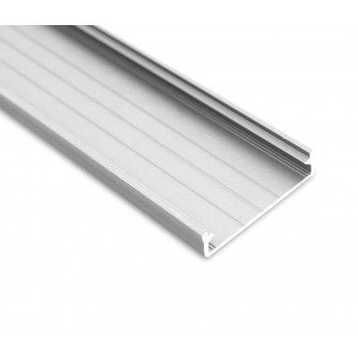 Slim Wide Silver Aluminium Channel / Extrusion / Profile for Housing LED Tape - 9.3 x 43mm