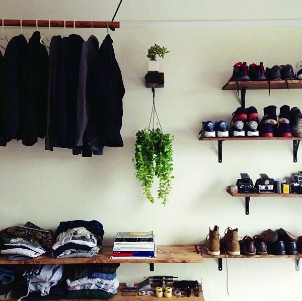 Apartment shoe shelves via Taylor Hoff