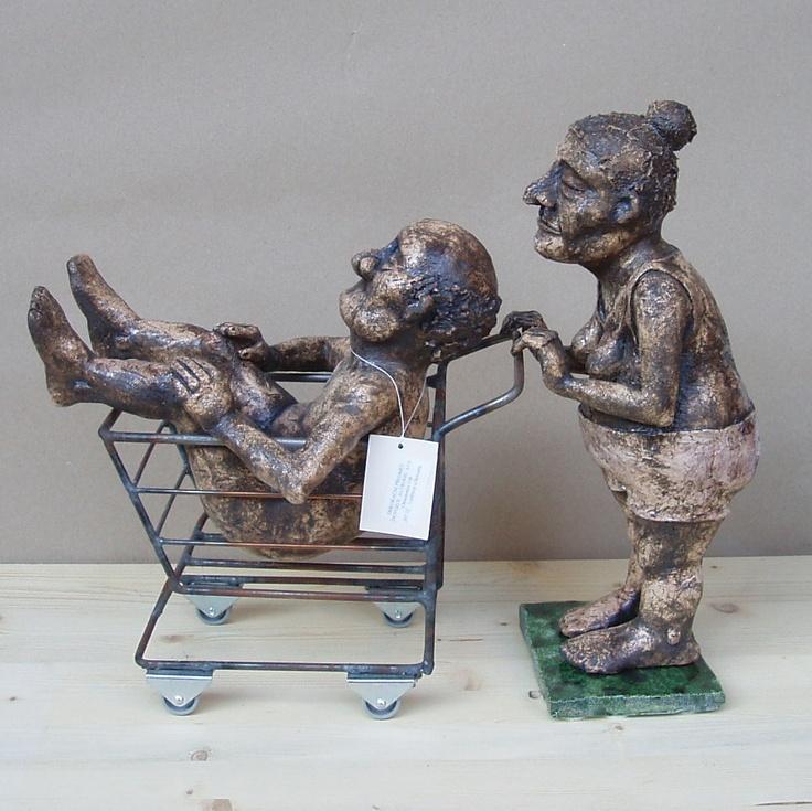 Me and my man, ceramic sculpture Michaela Stejskalova