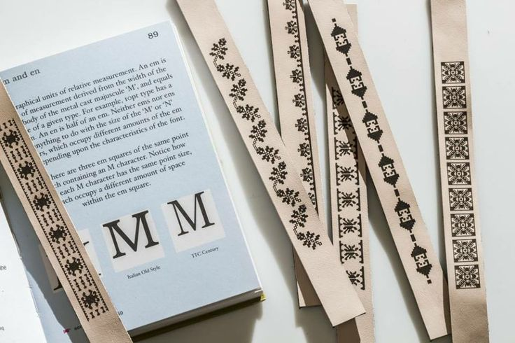 Leather book marks