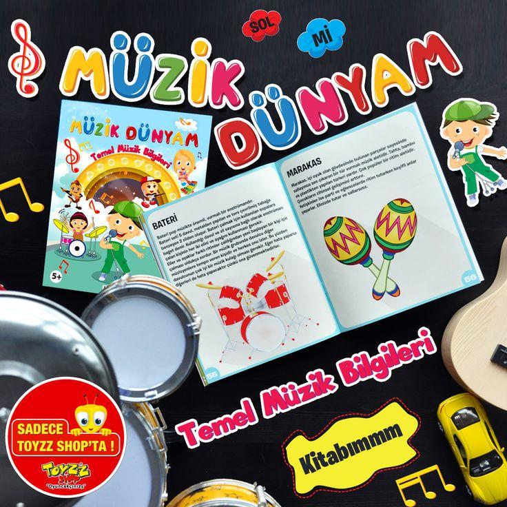 Çocuğunuzun temel müzik becerilerini öğreneceği bu kitap çok eğlenceli! Toyzz Shop #Espark bodrum katta.