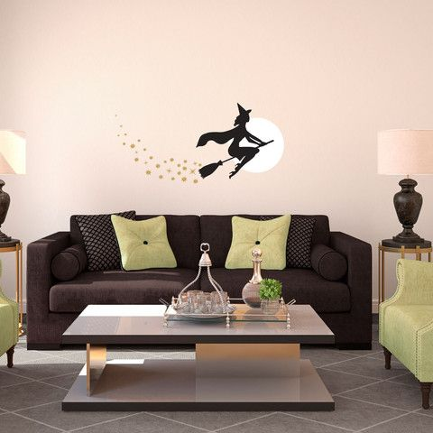 This decal is perfect to give a little charm to the halloween season. With a Bewitched style pretty witch on a broom flying in front of the full moon with a trail of spark stars, you just can't help but love the magic of Halloween time!   Visit this link for more designs: https://limelight-vinyl.myshopify.com/