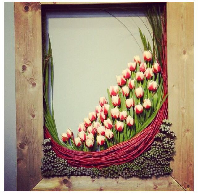 floral in picture frame