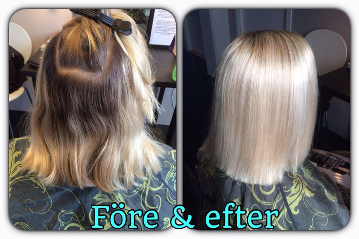 Before & after  Iceblond hair