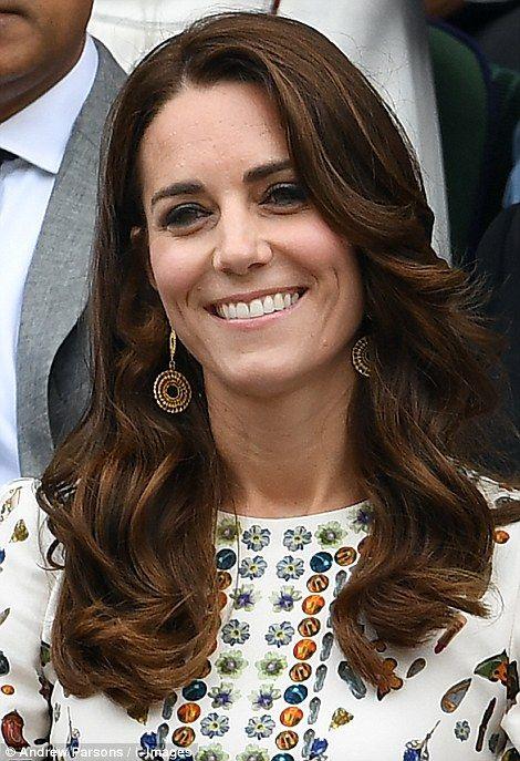 dailymail:  Men's Finals, Wimbledon, July 10, 2016-Duchess of Cambridge